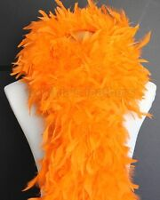 "180g 80""Solid Orange Chandelle Feather Boa, largest on eBay A+++ Cynthia's"