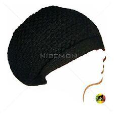 Black Rasta Dread Dreadlocks Tam Hat Beret Cap Hippie Reggae Marley Jamaica M/L