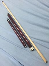 Rhino Break Jump Cue Burgundy Stained W/ Fancy Ringwork