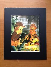 GARFIELD & ODIE~Campfire,computer ~5 MAT PRINTS 8X10~ each NEW in plastic sleeve