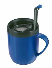 Zyliss Cafetiere Double Wall One Cup Hot Coffee Tea Mug, Blue