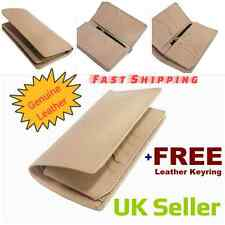 Unisex Leather Coat Wallet Organizer Off White Cash Credit Card ID