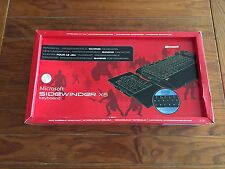 MICROSOFT SIDEWINDER X6 BACKLIT GAMING KEYBOARD W/NUMBER PAD