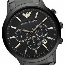 EMPORIO ARMANI AR2453 SUPER LUXURY BLACK CHRONOGRAPH MENS WATCH
