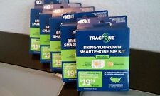 New Tracfone Bring Your Own Smartphone Sim Card Activation Kit Std- Micro- Nano