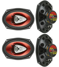 """4) NEW BOSS CH6920 6x9"""" 2-Way 700W Car Coaxial Audio Speakers Stereo Red"""
