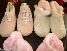 BUNDLE OF BABY GIRLS QUALITY DESIGNER SUEDE BOOTS AND BOOTEES FIT  FIRST SIZE
