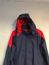 VTG 90s The North Face Extreme Navy Red Colorblock Windbreaker W/Hood M Gortex
