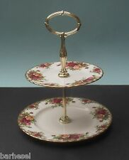 ROYAL ALBERT OLD COUNTRY ROSES TWO TIER CAKESTAND