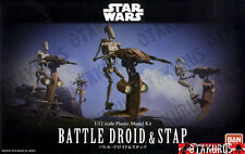 NEW - Battle Droid & Stap Star Wars Scale 1/12 Model Kit Figure Bandai Japan