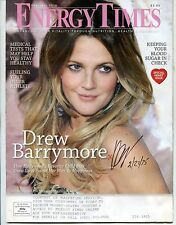DREW BARRYMORE signed ENERGY TIMES magazine