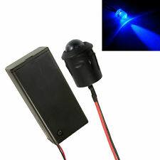 Large 10mm LED Flashing Blue Car, Motorcycle, Shed Dummy Fake Alarm + Holder
