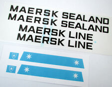 MAERSK CUSTOMISED STICKERS for 10152 - 10155 'TRANSPARENT HULL STICKER!'