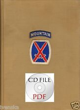 CD Book Rare 10th Mountain Division American Ski Troops Templeton 216 pages PDF
