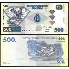 CONGO DEMOCRATIC REPUBLIC  500 Francs 04.01. 2002 UNC P 96 c