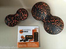 Blackroll orange TwinBALL-orange SET 8 & 12 cm Blackroll Doppelball