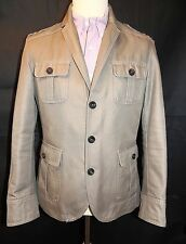 "MENS ZARA MAN - BEIGE HEAVY COTTON JACKET - 36"" CHEST GREAT CONDITION"