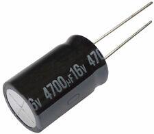 2x Condensateur électrolytique chimique 4700µF 16V THT  1000h Ø16x25mm radial