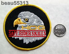 """OLD STYLE"" HARLEY DAVIDSON OWNERS GROUP HOG ""SAFE RIDER SKILLS"" PATCH & PIN SET"