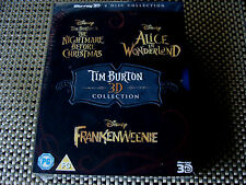 Box Set: Tim Burton 3D Collection : 3 Disney Films 6 Blu-Ray Discs : Sealed