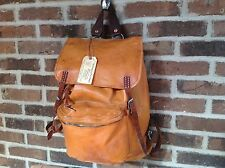 RARE VINTAGE 1980`s SWISS BASEBALL GLOVE LEATHER BACKPACK RUCKSACK BAG R$798