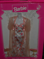 1997 BARBIE LINGERIE FASHION AVENUE PEACH COLOR & FLORAL PRINT LINGERIE FASHION