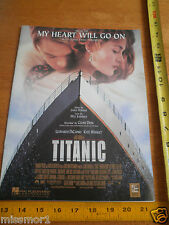 Titanic My Heart will go on photo sheet music 1997 Kate Winslet Leo DiCaprio