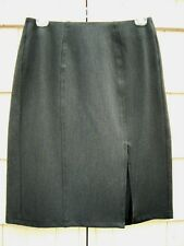 A wear CLASSIC Charcoal Gray Stretch Skirt ~Designed in LONDON~ size 10