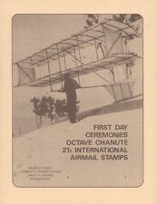 #C93-#C94 21c Octave Chanute Stamps First Day Ceremony  Program