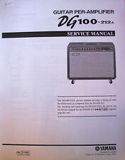 Yamaha DG100-212A Guitar Amplifier Service Manual Booklet