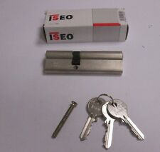 ISEO Euro Cylinder 100mm 40mm / 60mm Door Lock Nickel C/W 3 Keys UPVC PVC 5 PIN
