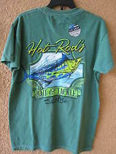 SALT LIFE MEN'S SMALL GREEN HOT ROD MARLIN T-SHIRT (NWT) SHORT SLEEVE