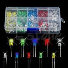 New 150Pcs 3mm 5mm LED Light White Yellow Red Blue Green Assortment Diodes Kit