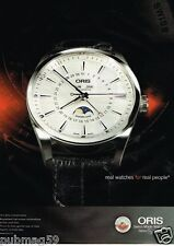 Publicité advertising 2012 La Montre Oris Artix Complication Automatic