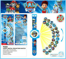 Fun TV Character PAW PATROL Figures Projection Watch Kids Children Baby Toy Gift