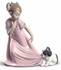 Nao by Lladro Porcelain Let Me Go Special Edition Girl Dog Figurine 02001829 New