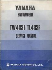 1974? YAMAHA SNOWMOBILE TW433F & TL433F  863-28197-10 SERVICE MANUAL (098)