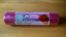 Large Rose Fragrance Swing Bin Liners 50L thicker/stronger tie handle bags