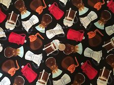 Coffee Pots Caraffe Tea Pot Kitchen Novelty Quilt Fabric Last Fat Quarter FQ FQs