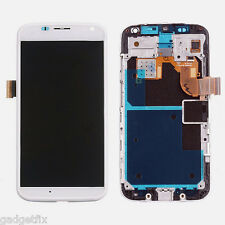 White Motorola Moto X XT1056 XT1053 LCD Digitizer Touch Screen + Faceplate Frame