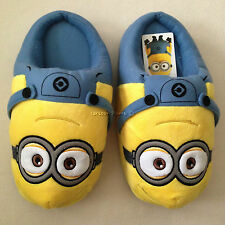 DESPICABLE ME MINION Plush Slippers Shoes Sandal Size UK 3-7, EU 34-40, US 5-9