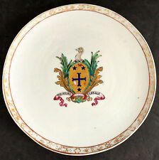 Chinese Export Armorial Plate  c1745 Arms of Mill Tou Jours Fidelle
