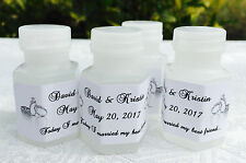 210 SILVER WEDDING RINGS Personalized BUBBLE labels/stickers for PARTY FAVORS