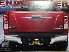 CHROME TAILGATE FENDER LINER ACCENT COVER FOR ISUZU D-MAX DMAX 2DR 4DR 2012-2015