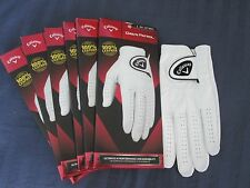 6 CALLAWAY DAWN PATROL LEATHER GOLF GLOVES SIZE  LARGE NEW MENS