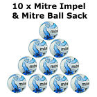 DISCOUNT DEAL 10 x Mitre Impel Training Football 2015 & FREE BALL SACK
