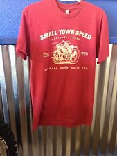 X-Large super soft SMALL TOWN SPEED shop shirt Cardinal Red vintage theme XL