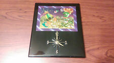Vintage 1996 Wall CLOCK MAGIC EFFECTS Foil Art Looney Tunes Marvin the Martian