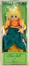 """Brinn's Flora Belle October Miss Sun Flower Porcelain Clown Doll 14"""" w/Box 1987"""