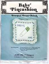 "1977 June Grigg/designs Counted Cross Stitch Kit  #116 ""Baby Pincushion"""